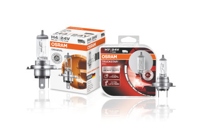Trucks halogen headlight lamps OSRAM