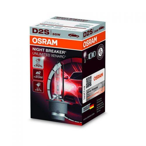 D2S Xenarc Night Breaker Unlimited +70% 66240XNB 35W P32D-2 4X1 FS1 by OSRAM