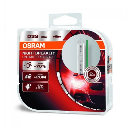 D3S Xenarc Night Breaker Unlimited +70% 66340XNB 35W PK32D-5 HCB2 by OSRAM