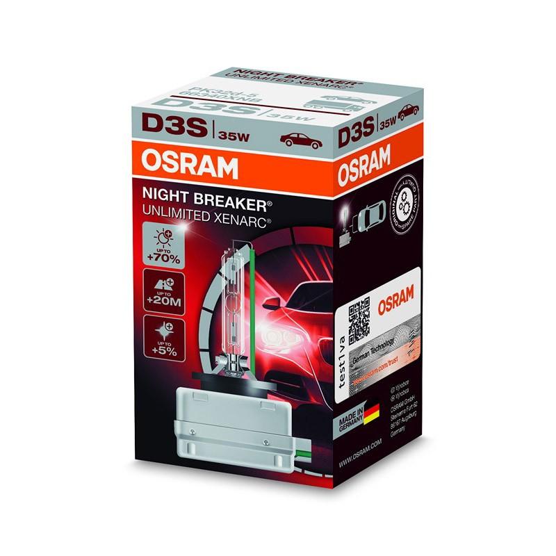 D3S Xenarc Night Breaker Unlimited +70% 66340XNB 35W PK32D-5 4X1  FS1 by OSRAM