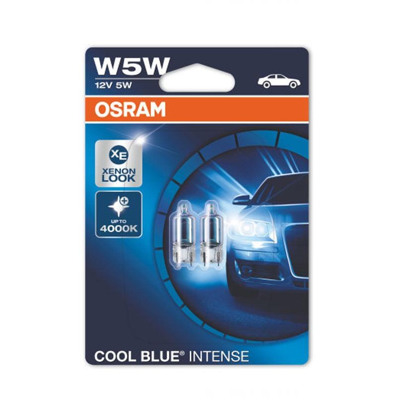 W5W  2825HCBI-02B 5W 12V W2.1X9.5D 10XBLI2 by OSRAM
