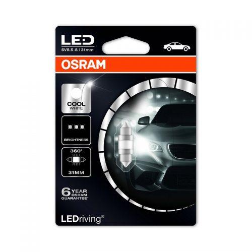 6497CW-01B 1W 12V SV8.5-8 BLI1 - Festoon 31mm (6438 Form) 6000K (M1) by OSRAM