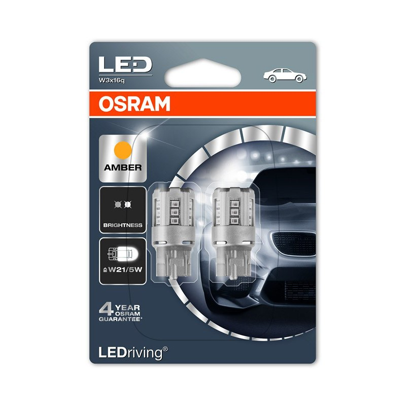 W21/5W (T20 DC)  7715YE-02B 1W 12V W3X16Q BLI2      OSRAM by OSRAM
